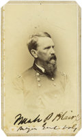 Photography:CDVs, Scarce General Frank P. Blair Signed Carte de Visite. An important Union general, Blair went on to run unsuccessfully fo...