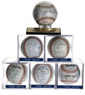 Autographs:Baseballs, New York Mets Team Signed Baseball Collection Lot of 6. Half adozen team balls straight out of Shea, including the two Cha...(Total: 6 Items)