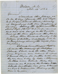 North Carolina Confederates. Included are the following: John Branch- Two Autograph Letters Signed, 1829 and 1830, fine...