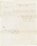 """Military & Patriotic:Civil War, Group Lot of 10 Confederate Generals' Autographs consisting of: . Gabriel James Raines- ANS, one page, 8"""" x 10"""", dated F..."""