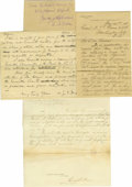 Autographs:Military Figures, Civil War Dispatches of Union General Napoleon Dana. There are over sixty dispatches, general orders and letters written or ...