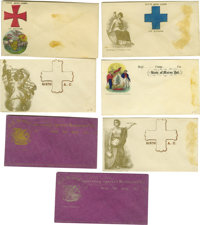 Lot of Seven Union Army Corps and Division Patriotic Covers. A selection of seven unused covers with Union army military...