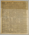 Books:Periodicals, Collection of Confederate Richmond Newspapers including eightissues of the Daily Dispatch as follows: August 6, 1861;S...