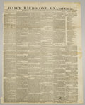 "Books:Periodicals, Eleven Confederate Issues of the Daily Richmond Examiner, afine singlesheet (printed both sides, 17"" x 24"") publication..."