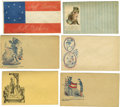 Military & Patriotic:Civil War, Lot of 38 Jefferson Davis Patriotic Covers A selection of 38 Civil War era unused covers depicting variations on the theme o... (Total: 38 )