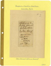 Endorsement Signed by Two Confederate Generals - Leonidas Polk and Benjamin Franklin Cheatham. Endorsement on lined pape...
