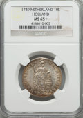 Netherlands:Holland, Netherlands: Holland. Provincial 10 Stuivers 1749 MS65+ NGC,...