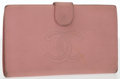 "Luxury Accessories:Accessories, Chanel Pink Caviar Leather Bifold Wallet. Good Condition.7"" Width x 4"" Height x .5"" Depth. ..."