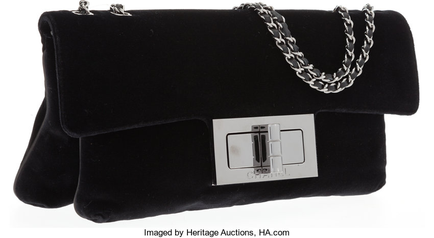 e10f3a8402f6 Very GoodCondition; Luxury Accessories:Bags, Chanel Black Velvet Flap Bag  with Gunmetal Hardware .