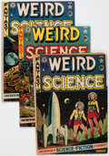 Golden Age (1938-1955):Science Fiction, Weird Science Group of 4 (EC, 1951-52) Condition: Average GD....(Total: 4 Comic Books)