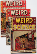 Golden Age (1938-1955):Science Fiction, Weird Science Group of 4 (EC, 1951-52) Condition: Average GD/VG....(Total: 4 Comic Books)