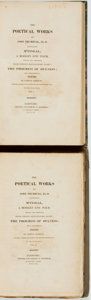 Books:Literature Pre-1900, John Trumbull. The Poetical Works of John Trumbull, LL. D.Containing M'fingal, a Modern Epic Poem, Revised and Correcte...(Total: 2 Items)