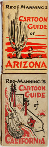 "Books:Americana & American History, [Cartoons]. [Americana]. Reg Manning. Pair of SIGNED ""CartoonGuides"". New York City: J. J. Augustin Publisher, [1938 and 19...(Total: 2 Items)"