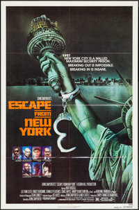 """Escape from New York (Avco Embassy, 1981). One Sheet (27"""" X 41"""") Advance. Science Fiction"""