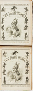 Books:Periodicals, [Bound Periodicals]. The John-Donkey. Philadelphia:Published for the Proprietors, 1848.... (Total: 2 Items)