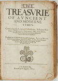 Books:World History, Pedro Mexio, M. Francesco Sansovino, and Anthonie Du Verdier.The Treasurie of Auncient and Moderne Times. Londo...