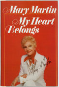 Books:Biography & Memoir, Mary Martin. INSCRIBED. My Heart Belongs. New York: WilliamMorrow and Company, 1976....