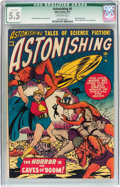 Golden Age (1938-1955):Science Fiction, Astonishing #5 (Atlas, 1951) CGC Qualified FN- 5.5 Off-whitepages....