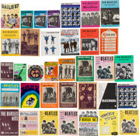 A Large International Collection of 30+ Beatles Songbooks (1960s)