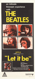 Music Memorabilia:Posters, Beatles - An Australian Let It Be Theatrical Poster(Australia, 1970)....