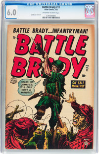 Battle Brady #11 (Atlas, 1953) CGC FN 6.0 Off-white to white pages