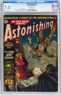 Golden Age (1938-1955):Horror, Astonishing #14 (Atlas, 1952) CGC FN/VF 7.0 Off-white pages....
