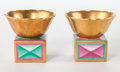 Ceramics & Porcelain, Continental:Modern  (1900 1949)  , Richard-Ginori . Pair of Cabinet Vases, 1925. Gilt and enameled porcelain. 2-1/8 inches high x 2-1/2 inches diameter (5.... (Total: 2 Items)