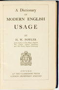Books:Reference & Bibliography, H. W. Fowler. A Dictionary of Modern English Usage. Oxford:At the Clarendon Press, [1934]....