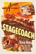"""Movie Posters:Western, Stagecoach (United Artists, R-1944). One Sheet (27.25"""" X 41"""").. ..."""