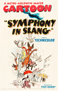 "Movie Posters:Animation, Symphony in Slang (MGM, 1951). One Sheet (27"" X 41.25"").. ..."