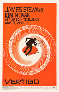"Vertigo (Paramount, 1958). One Sheet (26.75"" X 41.5"")"