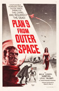"Movie Posters:Science Fiction, Plan 9 from Outer Space (DCA, 1958). One Sheet (27"" X 41"") RedStyle.. ..."