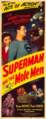 "Superman and the Mole Men (Lippert, 1951). Insert (14"" X 36"")"