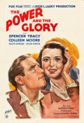 """Movie Posters:Drama, The Power and the Glory (Fox, 1933). One Sheet (27"""" X 41"""").. ..."""