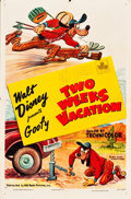 "Movie Posters:Animated, Goofy - Two Weeks Vacation (RKO, 1952). One Sheet (27"" X 41"").. ..."