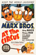 "Movie Posters:Comedy, At the Circus (MGM, 1939). One Sheet (27.25"" X 40.75"") Style C....."