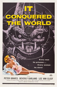 """It Conquered the World (American International, 1956). One Sheet (27"""" X 41"""")"""