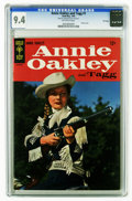 Silver Age (1956-1969):Western, Annie Oakley and Tagg #1 File Copy (Dell, 1965) CGC NM 9.4 Off-white pages. Photo cover. Overstreet 2006 NM- 9.2 value = $75...