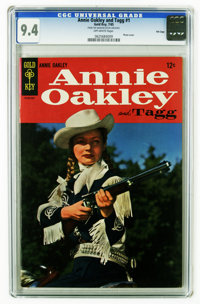 Annie Oakley and Tagg #1 File Copy (Dell, 1965) CGC NM 9.4 Off-white pages. Photo cover. Overstreet 2006 NM- 9.2 value =...