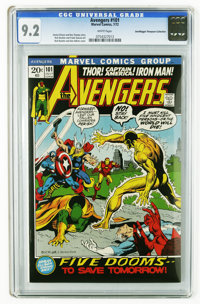 The Avengers #101 (Marvel, 1972) CGC NM- 9.2 White pages. Harlan Ellison story. Rich Buckler cover and art. Overstreet 2...