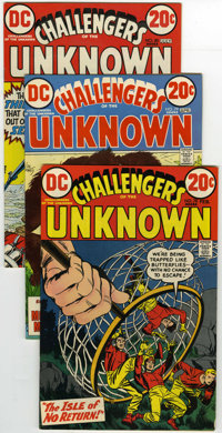Challengers of the Unknown #78, 79, and 80 Group (DC, 1973) Condition: Average FN+. This group of Challengers of the Unk...