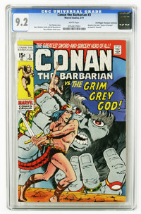 Conan the Barbarian #3 (Marvel, 1971) CGC NM- 9.2 White pages. Barry Smith cover and art. Adapted from the (non-Conan) s...