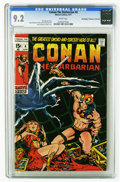 Bronze Age (1970-1979):Superhero, Conan the Barbarian #4 (Marvel, 1971) CGC NM- 9.2 White pages. Barry Smith cover. Smith and Sal Buscema art. Overstreet 2005...