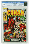 Bronze Age (1970-1979):Superhero, Conan the Barbarian #10 (Marvel, 1971) CGC NM 9.4 White pages. Barry Smith cover. Conan story with Smith art. King Kull back...
