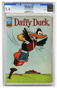 Daffy Duck #30 File Copy (Dell, 1962) CGC NM 9.4 Cream to off-white pages. Highest CGC grade for this issue. Overstreet...