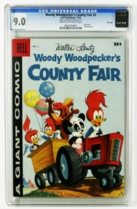 Dell Giant Comics Woody Woodpecker's County Fair #2 File Copy (Dell, 1958) CGC VF/NM 9.0 Cream to off-white pages. Paint...
