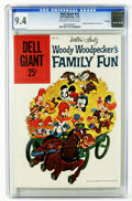 Silver Age (1956-1969):Cartoon Character, Dell Giants #24 Woody Woodpecker's Family Fun File Copy (Dell, 1959) CGC NM 9.4 Off-white to white pages. Painted cover. Ove...