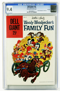 Dell Giants #24 Woody Woodpecker's Family Fun File Copy (Dell, 1959) CGC NM 9.4 Off-white to white pages. Painted cover...