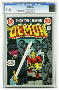The Demon #8 (DC, 1973) CGC NM+ 9.6 Cream to off-white pages. Jack Kirby story, cover and art. Mike Royer cover and art...