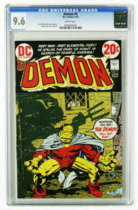 The Demon #9 (DC, 1973) CGC NM+ 9.6 White pages. Jack Kirby story, cover, and art and Mike royer cover and art. Overstre...